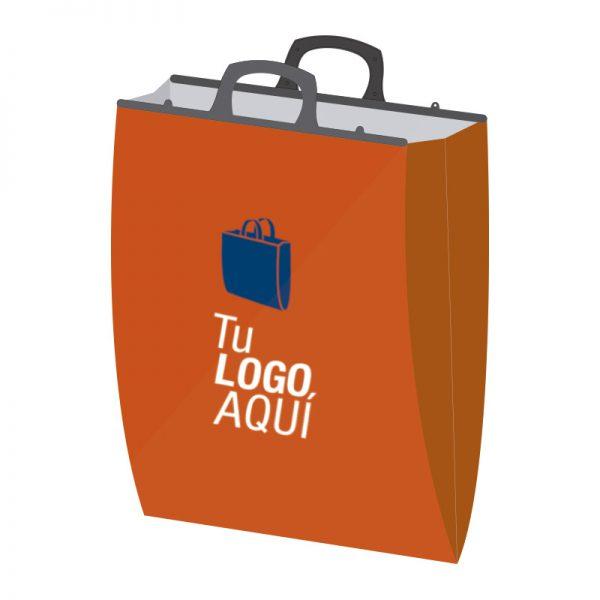 Bolsa plástica fuelle y manija rígida formato