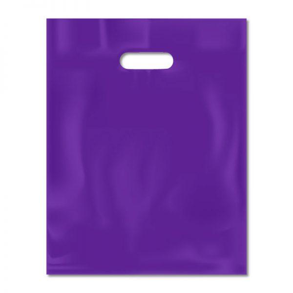 Bolsa plástica riñón lisa violeta